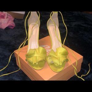 Lime Green Public Desire Strappy Heels